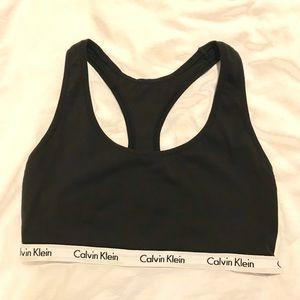 Calvin Klein Carousel Black Bralette - Medium